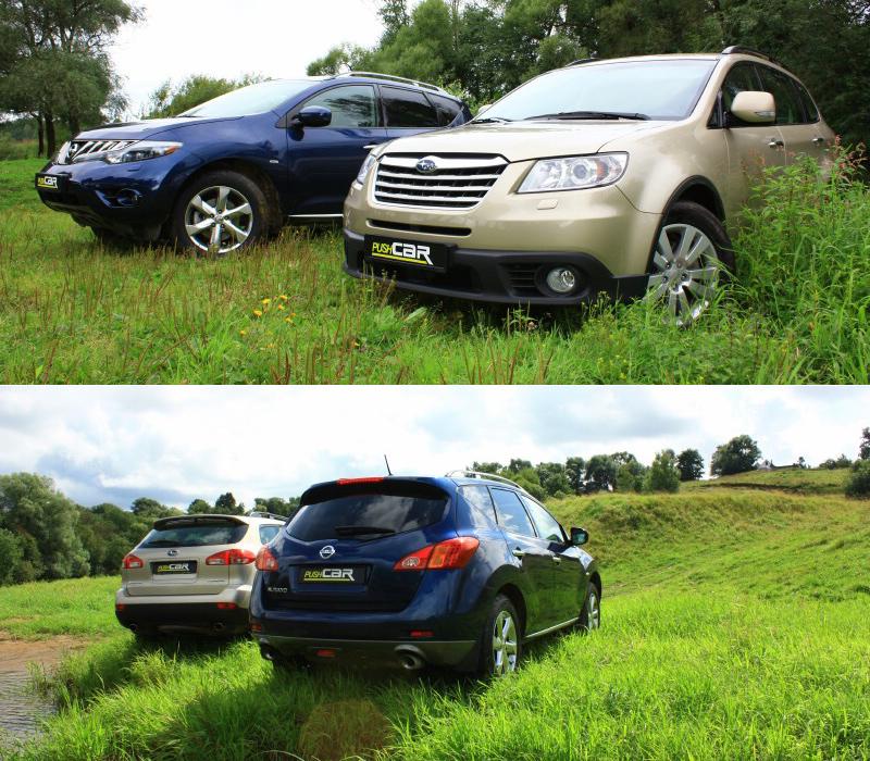 Тест-драйв Subaru Tribeca и Nissan Murano: Битва самураев