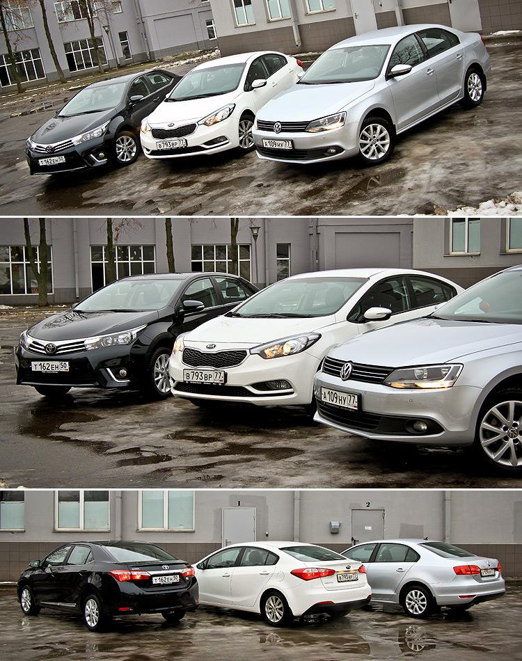 Тест-драйв Toyota Corolla, Volkswagen Jetta и KIA Cerato: Сравниваем, измеряем и взвешиваем