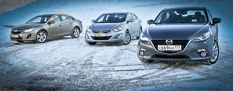 Тест-драйв Hyundai Elantra, Mazda 3 и Chevrolet Cruze: Три грани Восточной Азии
