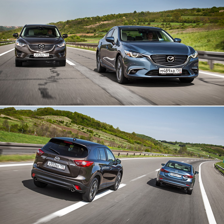Тест-драйв Mazda 6 и Mazda CX-5: Изменения на лицо